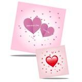 Naadloos stip rood patroon met harten Vector het herhalen te Royalty-vrije Stock Foto