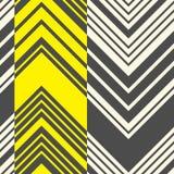 Naadloos streeppatroon Abstracte Zwarte en Gele Zigzagrug Stock Afbeelding