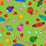 Naadloos suikergoedpatroon Stock Afbeelding