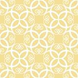 Naadloos symmetrisch geel patroon Stock Foto