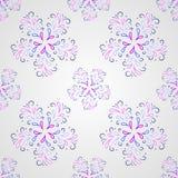 Naadloos symmetrisch patroon met bloemblaadjes of dalingen Royalty-vrije Stock Afbeelding