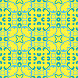 Naadloos symmetrisch patroon, textuur Stock Afbeeldingen