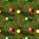 Naadloos tegelpatroon van de ballen van de graskleur Stock Fotografie