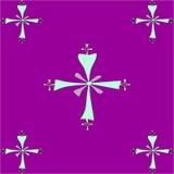 Naadloos tegelpatroon van Koptische kruisen Royalty-vrije Stock Foto