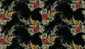 Naadloos textiel bloemenpatroon royalty-vrije illustratie