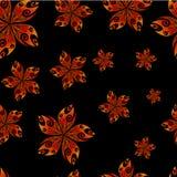 Naadloos textielbloempatroon Royalty-vrije Stock Afbeeldingen