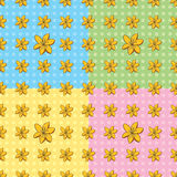 Naadloos Tiger Lily Pattern Stock Afbeeldingen