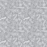 Naadloos Tileable-van de Kerstmisvakantie Bloemenpatroon Als achtergrond Stock Foto