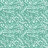 Naadloos Tileable-van de Kerstmisvakantie Bloemenpatroon Als achtergrond Royalty-vrije Stock Afbeelding