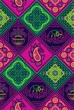 Naadloos traditioneel bandanapatroon royalty-vrije illustratie
