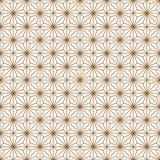 Naadloos traditioneel Japans geometrisch ornament Gouden rassenbarrières vector illustratie