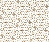 Naadloos traditioneel Japans geometrisch ornament Gouden rassenbarrières stock illustratie