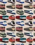 Naadloos treinpatroon Royalty-vrije Stock Fotografie