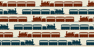 Naadloos treinpatroon Royalty-vrije Stock Afbeeldingen