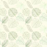 Naadloos tropisch palmbladenpatroon Royalty-vrije Stock Foto
