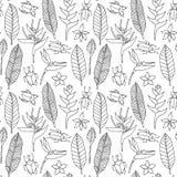 Naadloos tropisch patroon Royalty-vrije Stock Afbeeldingen