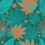 Naadloos uitstekend bloemenpatroon vector illustratie