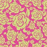 Naadloos uitstekend bloemenpatroon met rozen royalty-vrije illustratie