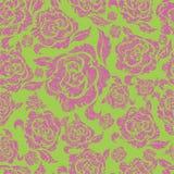 Naadloos uitstekend bloemenpatroon met rozen stock illustratie