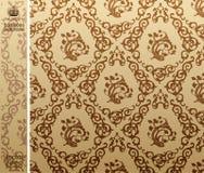Naadloos uitstekend bruin Patroon als achtergrond Royalty-vrije Stock Fotografie
