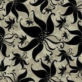 Naadloos uitstekend grunge bloemenpatroon met lilly royalty-vrije illustratie