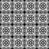 Naadloos Uitstekend Patroon Geometrisch abstract naadloos patroon Klassieke achtergrond Vector illustratie Stock Afbeelding