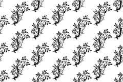 Naadloos uitstekend patroon op een witte achtergrond van stock illustratie
