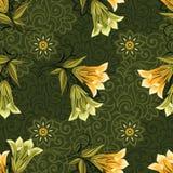 Naadloos uitstekend textiel bloemenpatroon stock illustratie