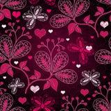 Naadloos valentijnskaart bloemenpatroon stock illustratie