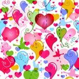 Naadloos valentijnskaart levendig patroon Stock Afbeelding