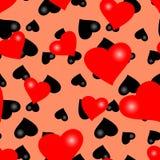 Naadloos valentijnskaartbehang Stock Fotografie