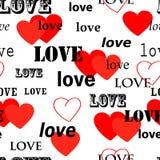 Naadloos valentijnskaartbehang Stock Afbeeldingen