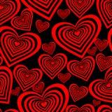 Naadloos valentijnskaartbehang Stock Foto