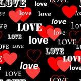 Naadloos valentijnskaartpatroon Stock Afbeelding