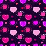 Naadloos valentijnskaartpatroon Royalty-vrije Stock Foto's