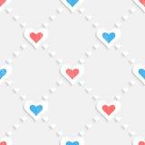 Naadloos valentijnskaartpatroon Royalty-vrije Stock Afbeelding