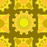 Naadloos van abstracte lichtbruine en lichtoranje cijfers en sh Stock Foto