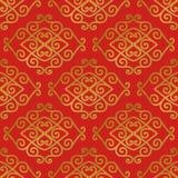 Naadloos van Aziatisch Element Royalty-vrije Stock Afbeeldingen