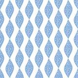 Naadloos van Blauwe Bladeren Stock Foto's