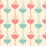 Naadloos van de tulpenbloem patroon als achtergrond Stock Afbeeldingen