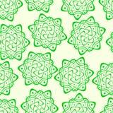 Naadloos van fractals en elementen van omwenteling en torsie in schaduwen Royalty-vrije Stock Afbeelding