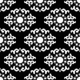 Naadloos van Gorizontal-Ornament op Zwarte Stock Afbeelding