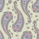 Naadloos van patroonpaisley sierontwerp als achtergrond voor stof in zachte pastelkleuren vectorillustratie stock illustratie