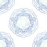 Naadloos van Rode Lotus On White Stock Foto's