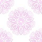 Naadloos van Roze Lotus On White Stock Afbeelding