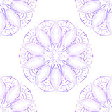 Naadloos van Violet Lotus On White Stock Foto
