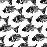 Naadloos van vissenachtergrond Stock Foto's