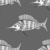 Naadloos van vissenachtergrond Royalty-vrije Stock Fotografie