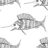 Naadloos van vissenachtergrond Stock Fotografie