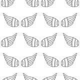 Naadloos van Vleugels Royalty-vrije Stock Afbeelding